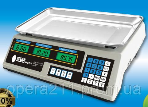 Торговые весы на YZ-218 ACS 50кг-6V (OPERA-DIGITAL)