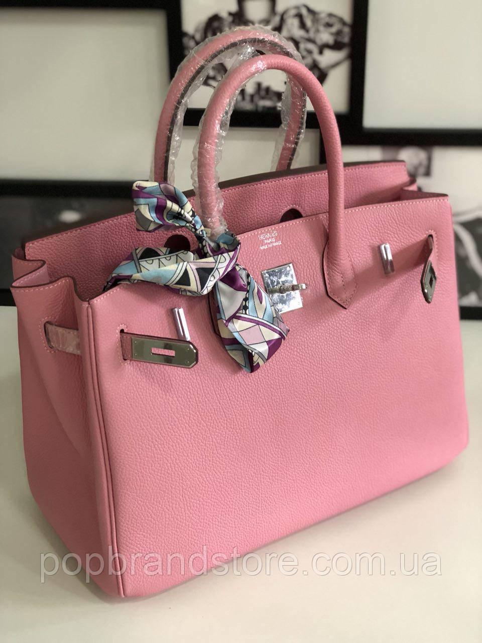 Роскошная женская сумка Гермес Биркин 35 см розе (реплика)  продажа ... 91c0696e6b7ce