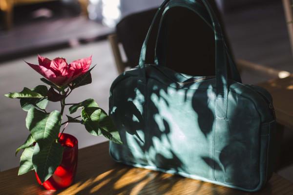Вместительная дорожная сумка мужская, большая кожаная сумка 2