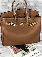 Женская сумка Гермес Биркин 35 см коричневая (реплика) 748d4ab17d506