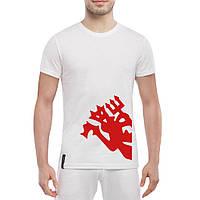 Футболка с принтом RED DEVIL (белый)