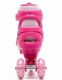 Роликовые коньки раздвижные Maraton Happy Combo Розовый2018, фото 3
