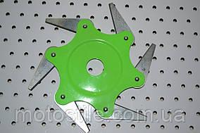 Нож сегментный для бензокосы 6Т