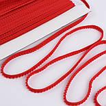 Тесьма с мини-помпонами 5 мм красного цвета (Польша), фото 3