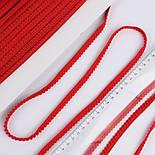 Тесьма с мини-помпонами 5 мм красного цвета (Польша), фото 4