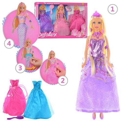 Лялька з вбранням DEFA 8245 гребінець, 2 кольори, в коробці