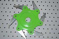 Косильная головка с металлическими ножами для мотокос 6Т, фото 1