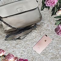 Женская маленькая сумка серебряная, фото 1