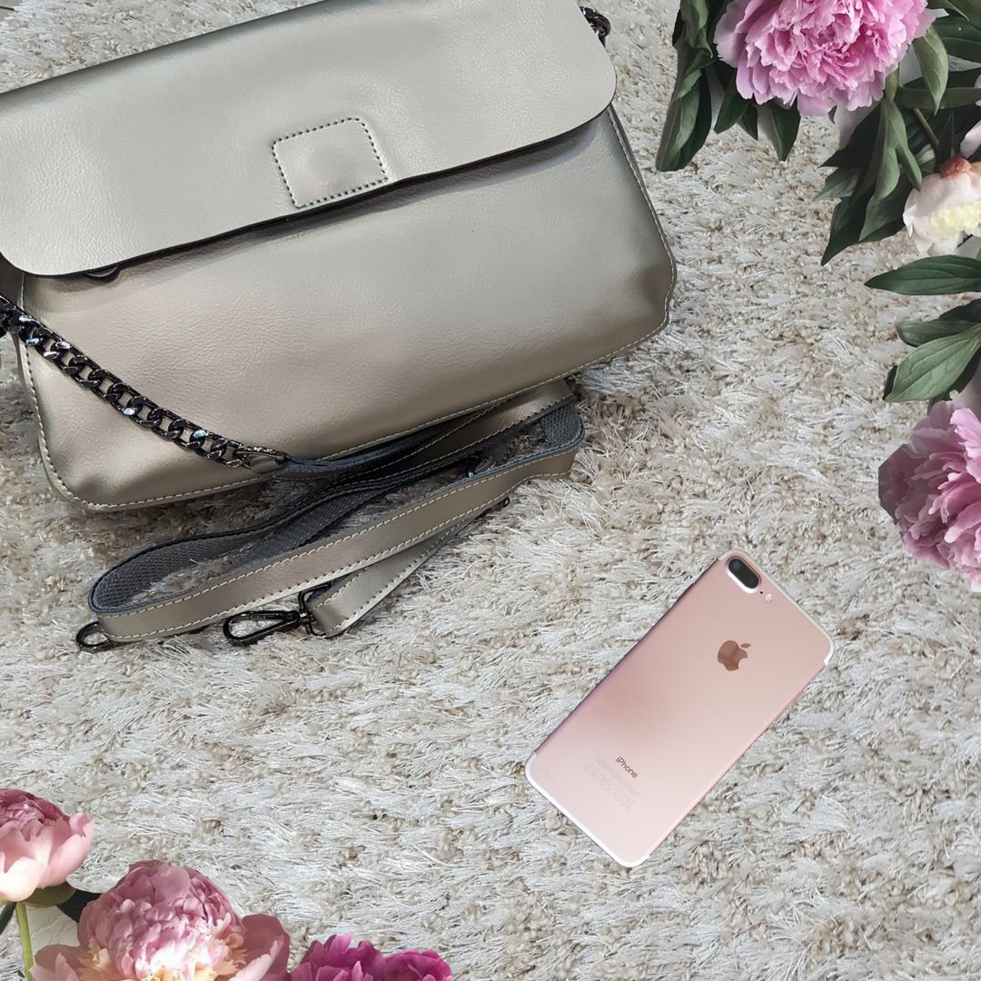 Женская маленькая сумка серебряная