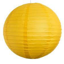 Бумажные шары для декора плиссе  25 см. желтый