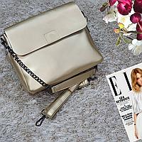 Женская маленькая сумка золотая, фото 1