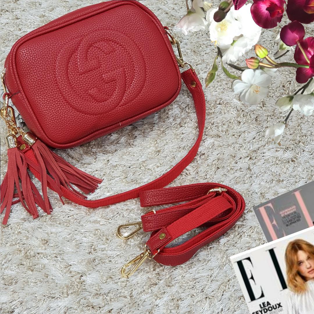 Женская маленькая сумка красная