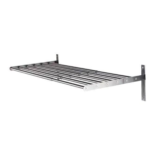 Сушилка для белья IKEA GRUNDTAL 67-120 см настенная нержавеющая сталь 902.192.97