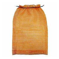 Сетка овощная 30х47 (до 10кг) оранжевая, с ручкой,мешки сетки для овощей