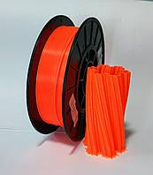 АБС пластик 0.5 кг для 3d принтеров и ручек, оранжевый неоновый