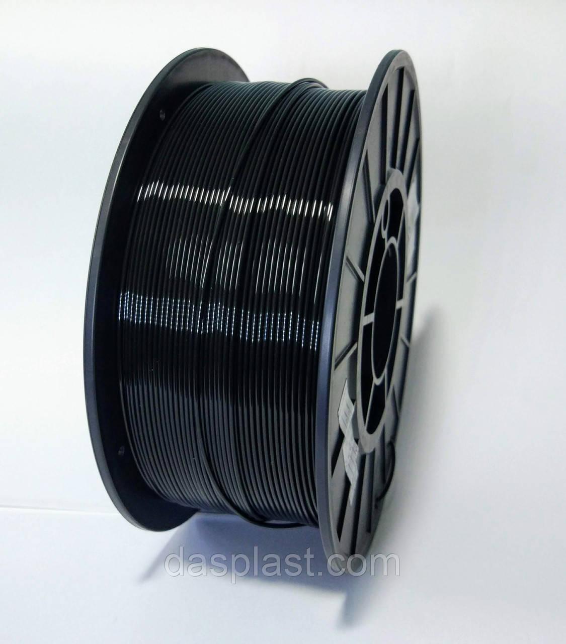 PLA пластик 1 кг, черный  1.75 мм,