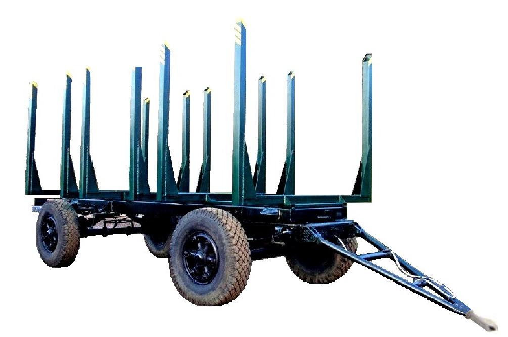 Прицеп сортиментовозный 2-х осный односкатный на шоссейной резине