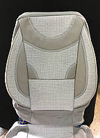 Универсальные чехлы на сиденья 2+3 светло серые