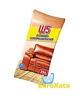 Влажные салфетки для очистки и ухода за кожаной мебелью W5 W5 Sitzmöbel Lederpflegetücher 25шт (Германия)