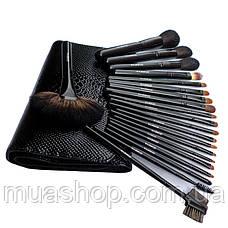 Набор профессиональных кистей Z'OREYA 21 шт в чехле (Черный), фото 3