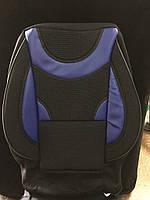 Универсальные чехлы на сиденья 2+3 черно - синий