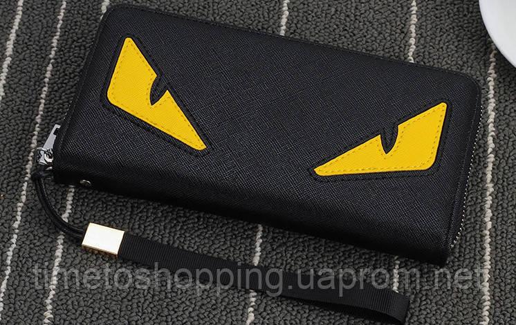 Женский кошелек клатч с глазами в стиле Fendi. Это что-то новенькое!