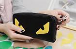 Женский кошелек клатч с глазами в стиле Fendi. Это что-то новенькое! , фото 6