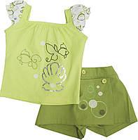 Летний комплект шорты и футболка для девочки (2-6 лет), фото 1