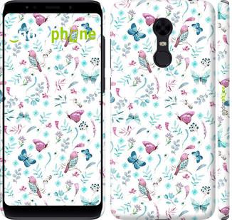 """Чехол на Xiaomi Redmi 5 Plus Бабочки и птички """"3371c-1347-571"""""""
