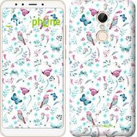 "Чехол на Xiaomi Redmi 5 Бабочки и птички ""3371c-1350-571"""