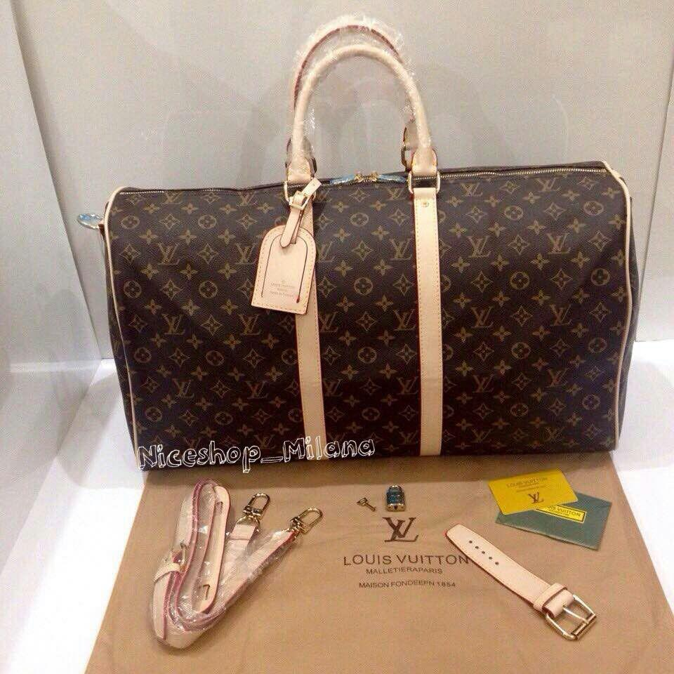 Уценка! Сумка Louis Vuitton Keppall кожа, классика монограмм, Люкс, 55 см