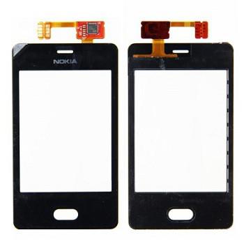 Тачскрин для Nokia Asha 501, черный Оригинал (тестирован)