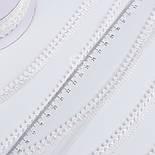 Текстильная тесьма шириной 12 мм с маленькими помпонами по краю, цвет белый, фото 4