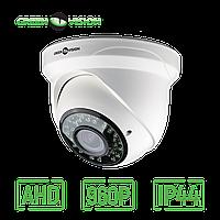 Купольная AHD камера для внутренней установки GreenVision GV-033-AHD-H-DIS13V-30 960р