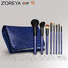 Натуральные кисти Z'OREYA 22 шт в чехле (Фиолетовый), фото 3