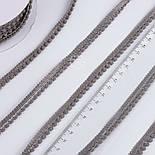 Текстильная тесьма шириной 12 мм с маленькими помпонами по краю, цвет серый, фото 2