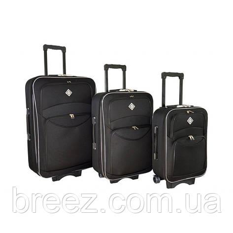 Чемодан Bonro Style набор 3 штуки черный, фото 2