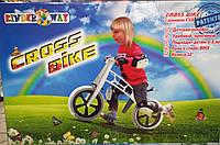 "Велобег 10"", EVA колеса (Cross bike) белый, 11-014БЕЛЫЙ"