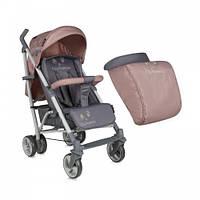 Прогулочная коляска-трость Bertoni S-200, ЧЕХОЛ,beige&grey, легкая