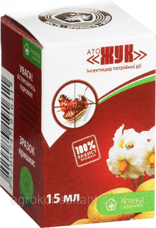 Инсектицид АТО «ЖУК» (15 мл) — уничтожения широкого спектра вредителей культурных растений.
