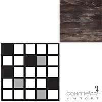 Керамогранит REX Керамогранит декор мозаика REX HORN DARK 6X6 MOSAICO 30X30 722227