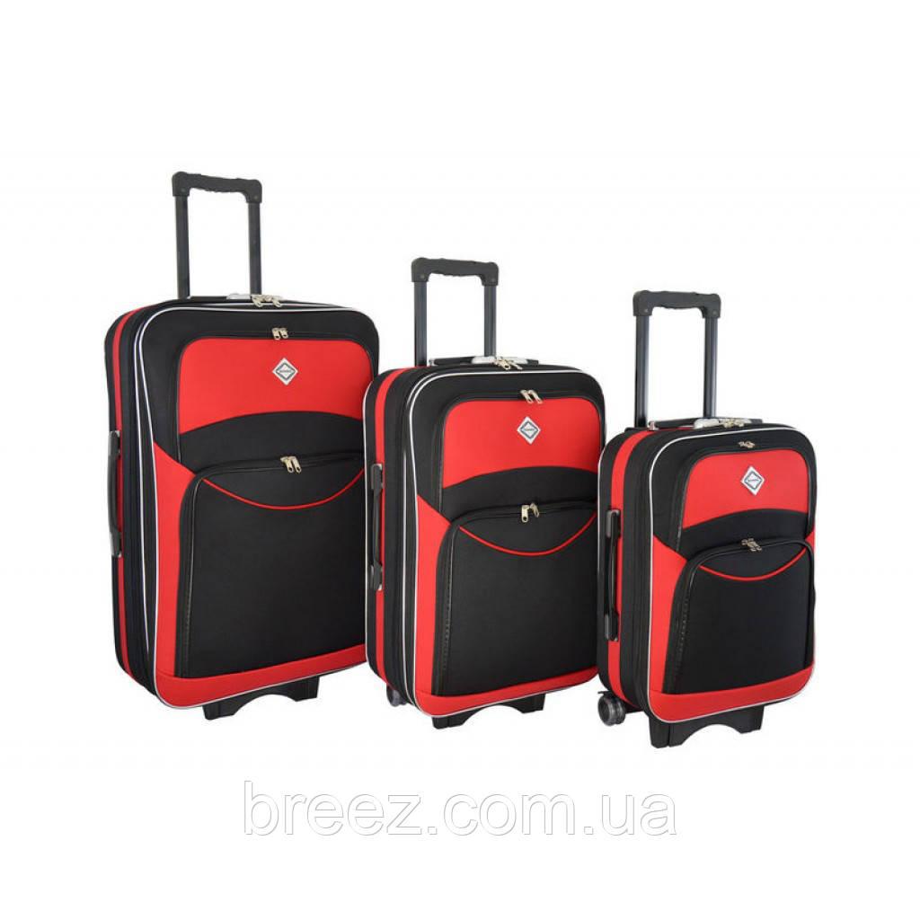 Чемодан Bonro Style набор 3 штуки черно-красный