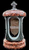 Лампадка (подсвечник) с гранитом для надгробного памятника Лампада, подсвечник, лезник, серебро