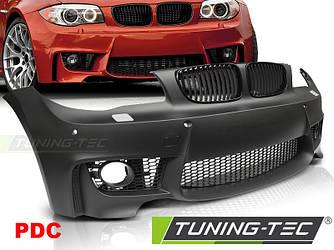 Передний бампер обвес BMW E81 E82 E87 E88 рестайл стиль M1 (под PDC)