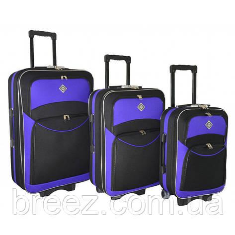 Чемодан Bonro Style набор 3 штуки черно-фиолетовый, фото 2