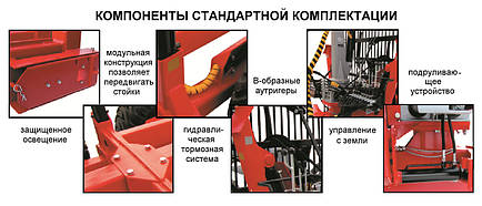 Прицеп лесовозный We-10D c манипулятором (Weimer), фото 2