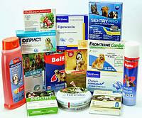 Распространенные ветеринарные препараты против эктопаразитов и т.п.