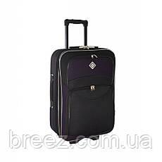 Чемодан Bonro Style набор 3 штуки черно-т.фиолетовый, фото 2