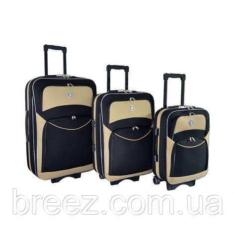 Чемодан Bonro Style набор 3 штуки черно-кремовый, фото 2