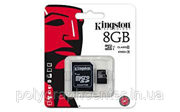 Карта памяти Kingston Micro SD 8 GB Class 4